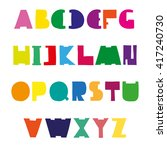 colorful cute alphabet design.... | Shutterstock .eps vector #417240730