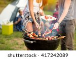 close up grill with colorful... | Shutterstock . vector #417242089