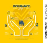 conceptual icons life insurance ... | Shutterstock .eps vector #417243043