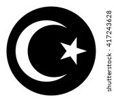 star and crescent button islam... | Shutterstock .eps vector #417243628