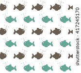 seamless sea fish pattern | Shutterstock .eps vector #417245170