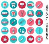 dental flat icons set in... | Shutterstock .eps vector #417246088