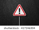 road sign triangular shape with ... | Shutterstock . vector #417246304