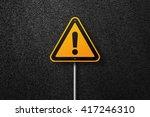 Road Sign Triangular Shape Wit...