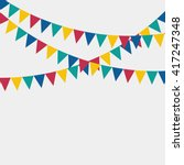 multicolored bright buntings... | Shutterstock .eps vector #417247348