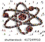 large and diverse group of... | Shutterstock . vector #417249910