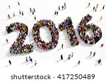 large and diverse group of... | Shutterstock . vector #417250489