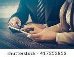 business meeting executive... | Shutterstock . vector #417252853