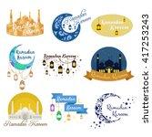 traditional ramadan kareem... | Shutterstock .eps vector #417253243