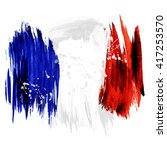 france hand painted national... | Shutterstock .eps vector #417253570