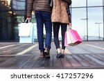 midsection of couple with... | Shutterstock . vector #417257296
