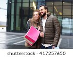 picture of young couple with... | Shutterstock . vector #417257650