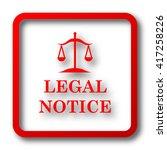 Legal Notice Icon. Internet...