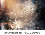 fireworks at new year and copy... | Shutterstock . vector #417260998