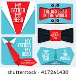 happy father's day collection.... | Shutterstock .eps vector #417261430