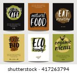 vector set with eco friendly... | Shutterstock .eps vector #417263794