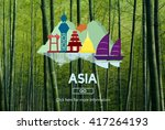 asia country travelling...   Shutterstock . vector #417264193