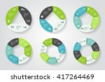 circle arrows infographic.... | Shutterstock .eps vector #417264469