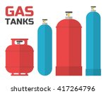 gas tanks set. various gas... | Shutterstock .eps vector #417264796