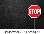 red road sign with the words... | Shutterstock . vector #417265870
