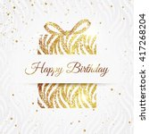 happy birthday elegant card... | Shutterstock .eps vector #417268204