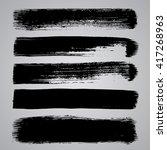 set of black grunge... | Shutterstock .eps vector #417268963