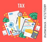 tax calculation  budget... | Shutterstock .eps vector #417273289