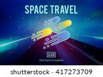 space travel astronomy... | Shutterstock . vector #417273709