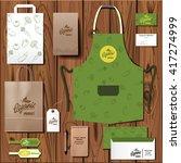 vector organic market corporate ... | Shutterstock .eps vector #417274999