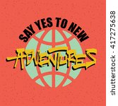 creative quote typography... | Shutterstock .eps vector #417275638