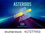 asteroids astronomy exploration ... | Shutterstock . vector #417277453