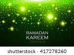 ramadan kareem greeting shining ... | Shutterstock .eps vector #417278260
