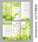 Eco Brochure. Flower Flyer....