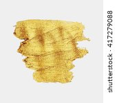 smear gold paint. vector golden ... | Shutterstock .eps vector #417279088