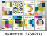 set of business templates for... | Shutterstock .eps vector #417280513
