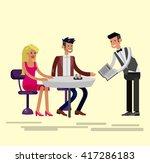 vector detailed character... | Shutterstock .eps vector #417286183