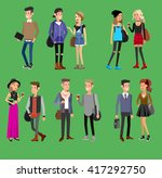 detailed character students ... | Shutterstock .eps vector #417292750