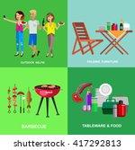 vector character people on... | Shutterstock .eps vector #417292813