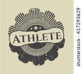athlete rubber seal   Shutterstock .eps vector #417293629