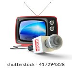 news channel television  mass... | Shutterstock . vector #417294328