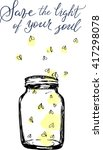 jar with fireflies and...   Shutterstock .eps vector #417298078