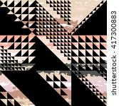 cute vector geometric seamless... | Shutterstock .eps vector #417300883