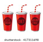vector stock of soda cups with... | Shutterstock .eps vector #417311698