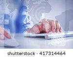 man surfing the internet  | Shutterstock . vector #417314464