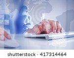 man surfing the internet  | Shutterstock . vector #417314464