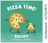 vintage pizza poster design... | Shutterstock .eps vector #417319873