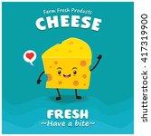 vintage cheese poster design... | Shutterstock .eps vector #417319900