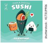 vintage sushi poster design... | Shutterstock .eps vector #417319906
