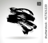 brush stroke and texture.... | Shutterstock .eps vector #417321220