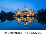 Stock photo hannover city hall rathaus in germany 417323200